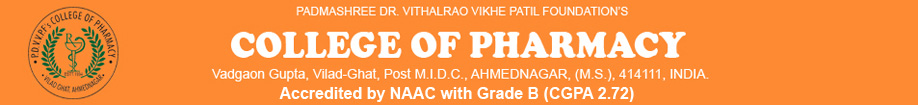 Padmashree Dr.Vithalrao Vikhe Patil foundation's College of Pharmacy